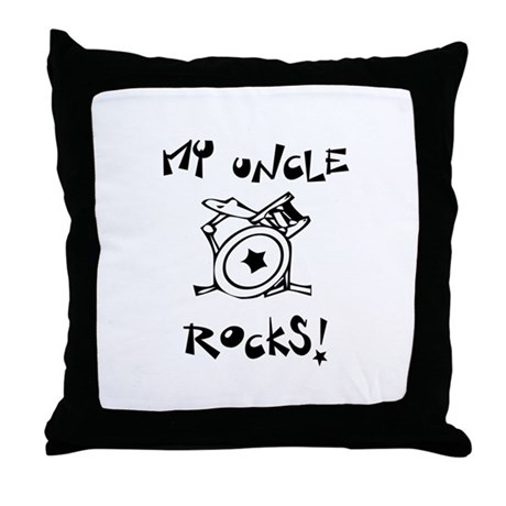 My Uncle Rocks Throw Pillow