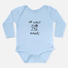 My Uncle Rocks Long Sleeve Infant Bodysuit