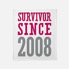 Survivor Since 2008 Throw Blanket