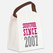 Survivor Since 2007 Canvas Lunch Bag