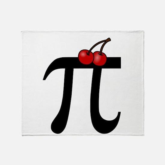 Cherry Pi Throw Blanket