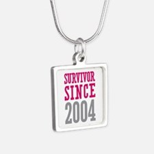 Survivor Since 2004 Silver Square Necklace