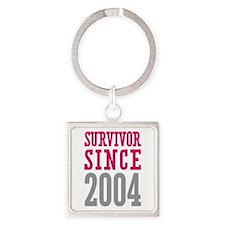Survivor Since 2004 Square Keychain