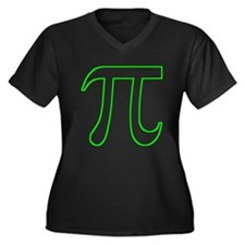Neon Green Pi Plus Size T-Shirt
