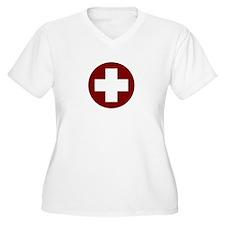 medic_cross_shirt_01 (light).tif Plus Size T-Shirt