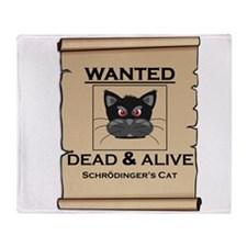 Schrodingers Cat Wanted Poster Throw Blanket
