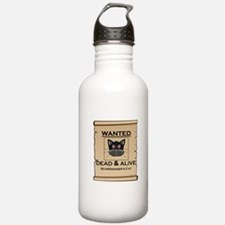 Schrodingers Cat Wanted Poster Water Bottle