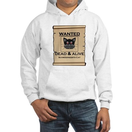 Schrodingers Cat Wanted Poster Hoodie