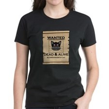 Schrodingers Cat Wanted Poster T-Shirt