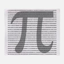 Pi Digits Throw Blanket