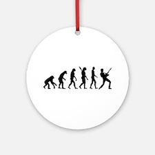 Evolution Rock musician star Ornament (Round)