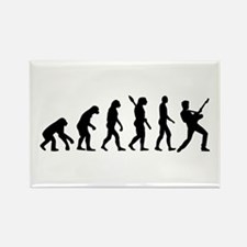 Evolution Rock musician star Rectangle Magnet