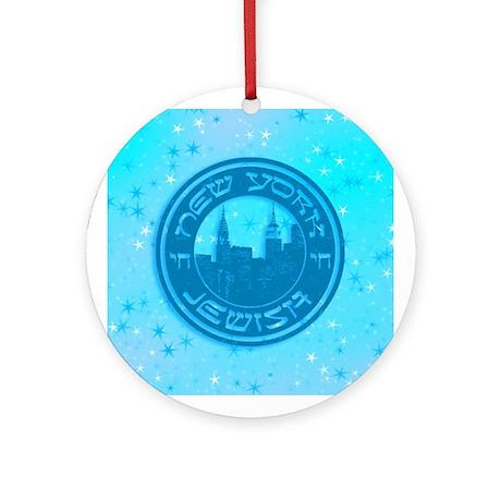 New York Jewish American Ornament (Round)
