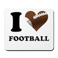 I Heart Football Mousepad