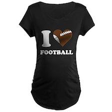 I Heart Football Maternity T-Shirt