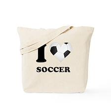 I Heart Soccer Tote Bag