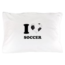 I Heart Soccer Pillow Case