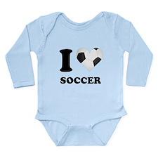 I Heart Soccer Body Suit