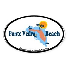 Ponte Vedra - Map Design. Decal