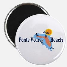 Ponte Vedra - Map Design. Magnet