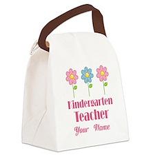Personalized Kindergarten Teacher Canvas Lunch Bag