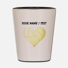 Custom Volleyball Heart Shot Glass