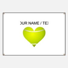 Custom Tennis Heart Banner