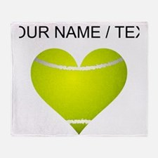 Custom Tennis Heart Throw Blanket