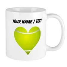 Custom Tennis Heart Mug
