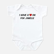 Heart on for Janelle Onesie