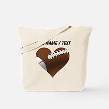 Custom Football Heart Tote Bag