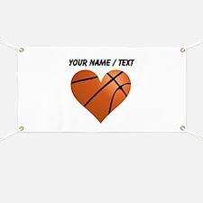 Custom Basketball Heart Banner