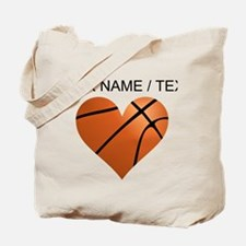 Custom Basketball Heart Tote Bag