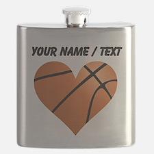 Custom Basketball Heart Flask