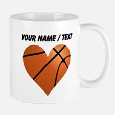 Custom Basketball Heart Mug