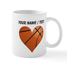 Custom Basketball Heart Small Mug