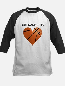 Custom Basketball Heart Baseball Jersey
