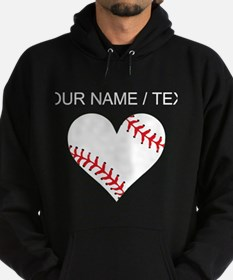 Custom Baseball Heart Hoody