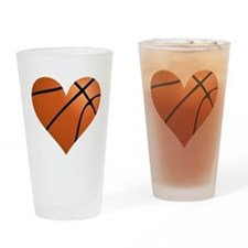 Basketball Heart Drinking Glass
