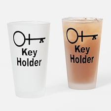 Key-Holder Drinking Glass