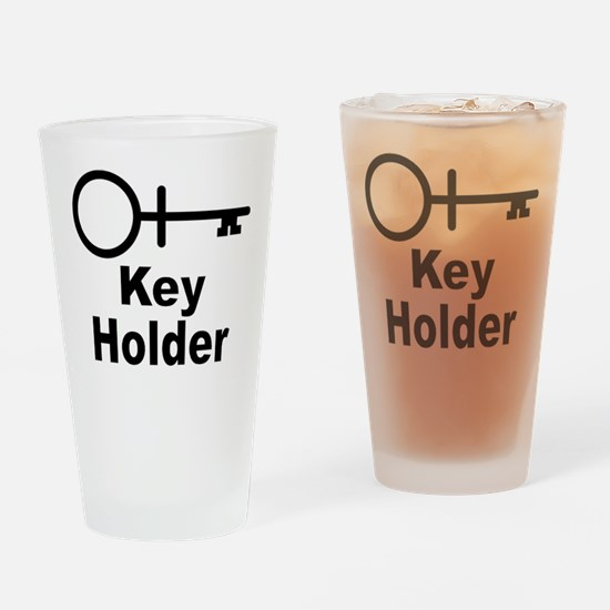 Key-Holder Drinking Glass