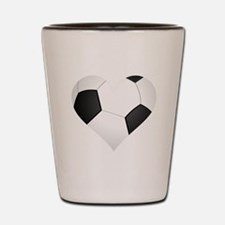 Soccer Heart Shot Glass