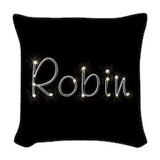 Robin Spark Woven Throw Pillow