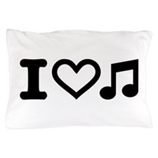 I love music note Pillow Case
