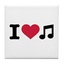 I love music Tile Coaster