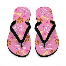 English Bulldog Mom Gift Flip Flops