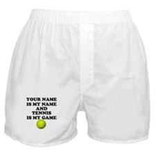 Custom Tennis Is My Game Boxer Shorts