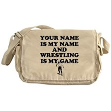 Custom Wrestling Is My Game Messenger Bag