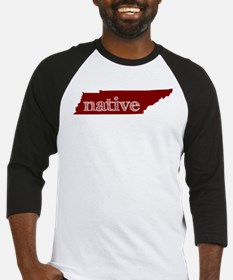Red Native Baseball Jersey