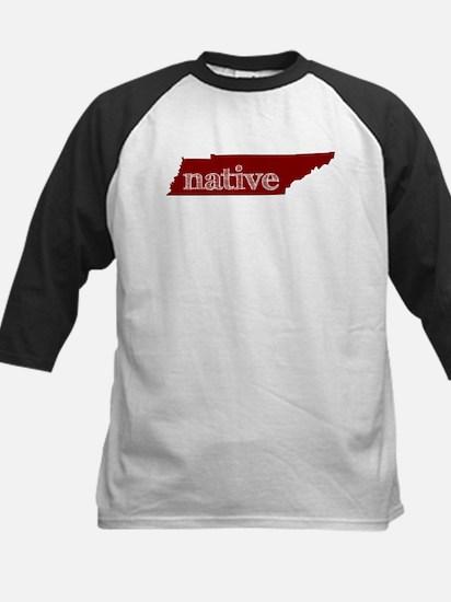Red Native Kids Baseball Jersey